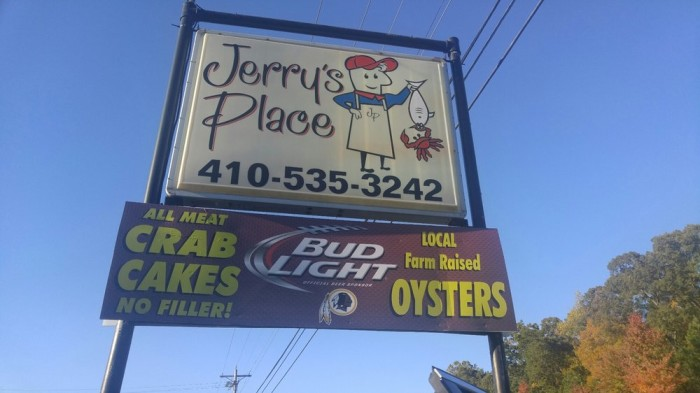 4) Jerry's Place, Prince Frederick