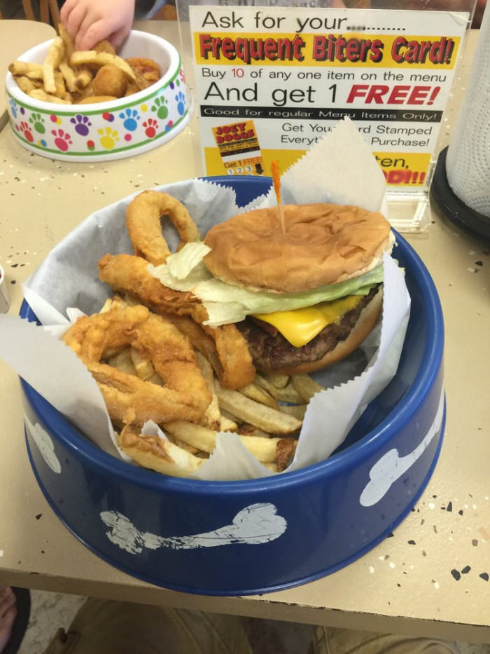 10. FRIES SERVED IN A DOG BOWL - Joey Doggs - Surfside Beach, SC