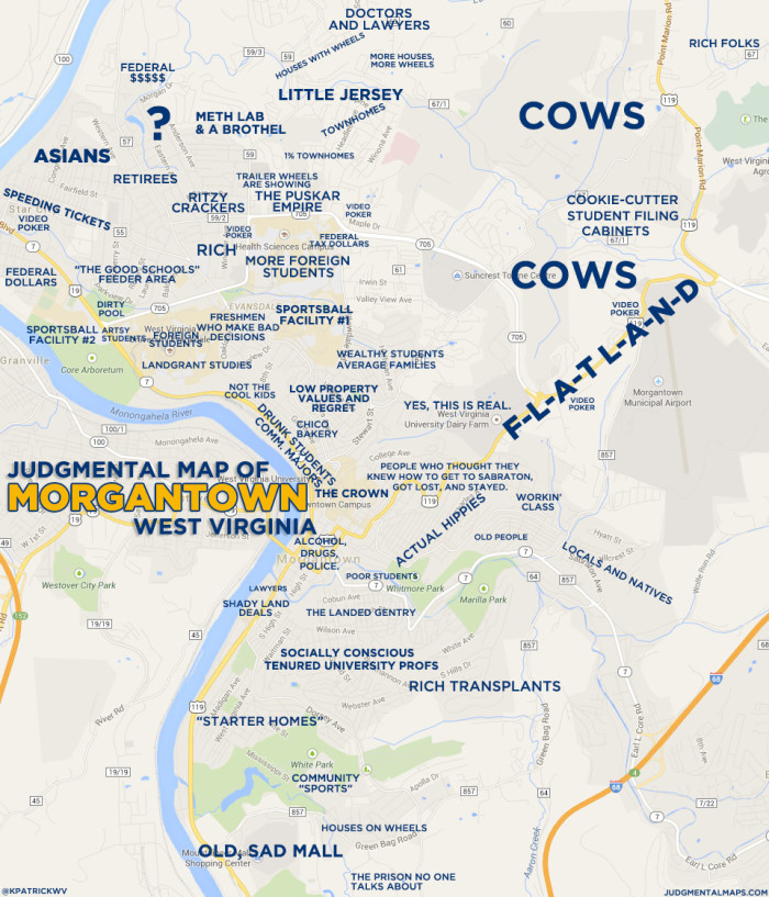 Maps Of West Virginia That Are Just Too Funny - Maps west virginia