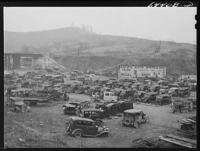 14. Here's a junkyard in Clarksburg in January 1942.