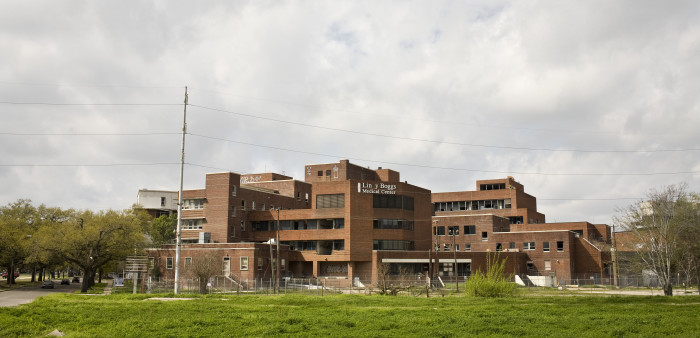 Here's an image of the hospital today: