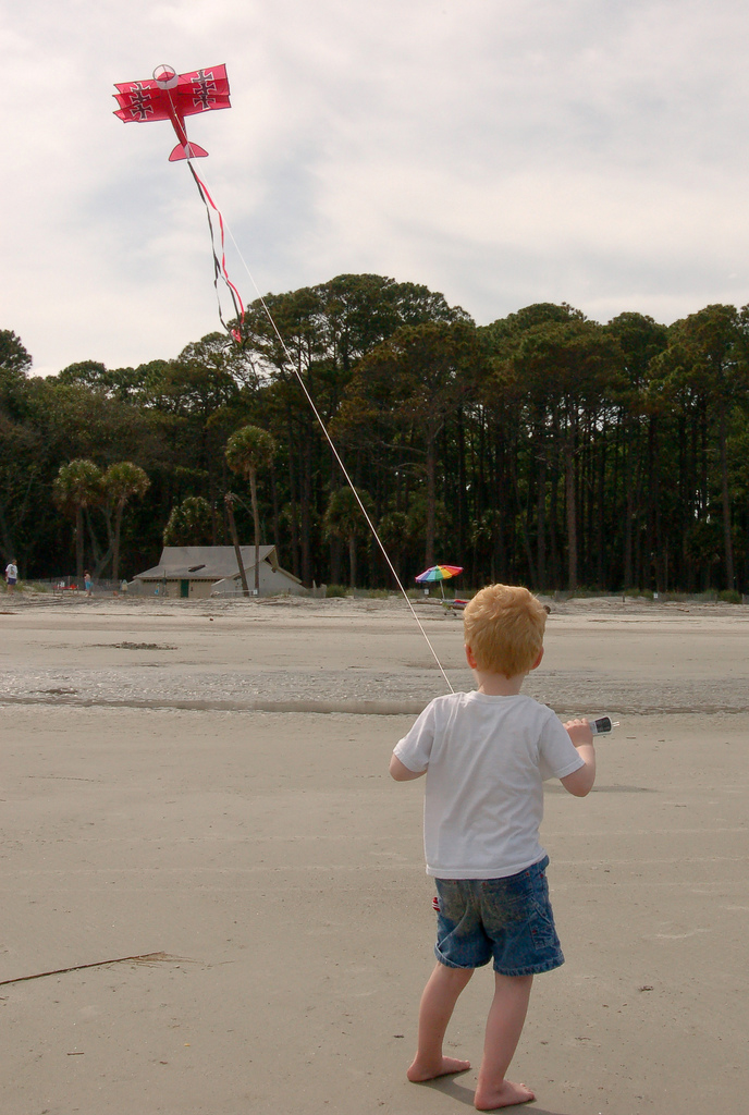 K is for Kids with Kites on the Beach