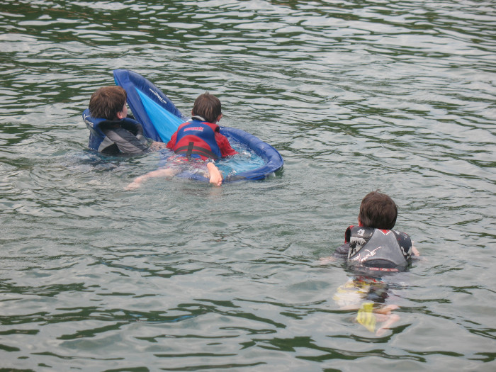 7. And when you swam in the lake....