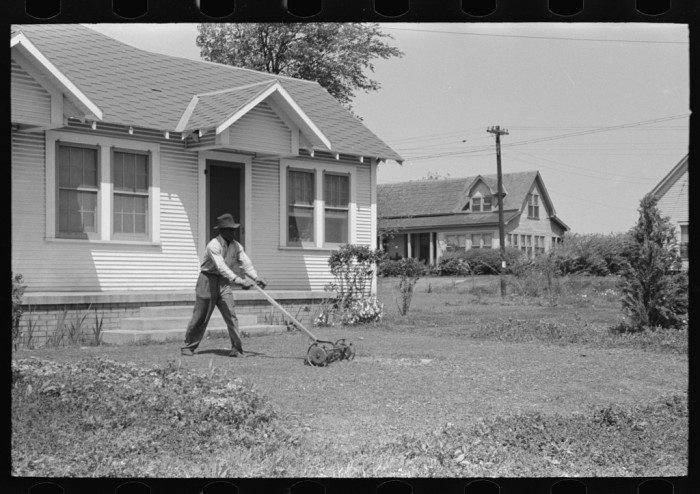 5. Lawnmowers sure have changed over the years. (San Augustine 1939)