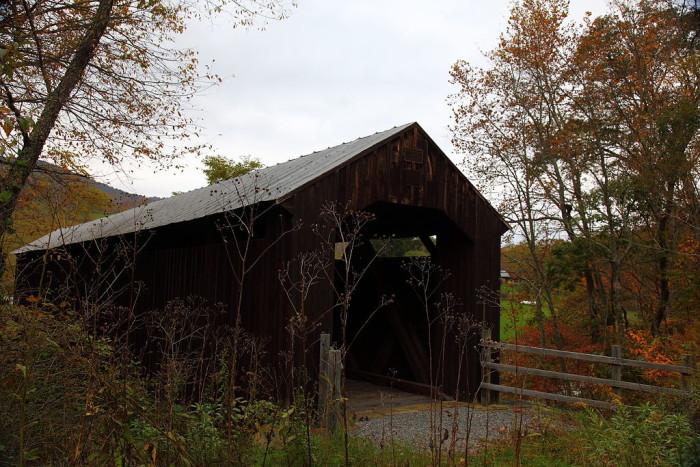 9. The Locust Creek covered bridge