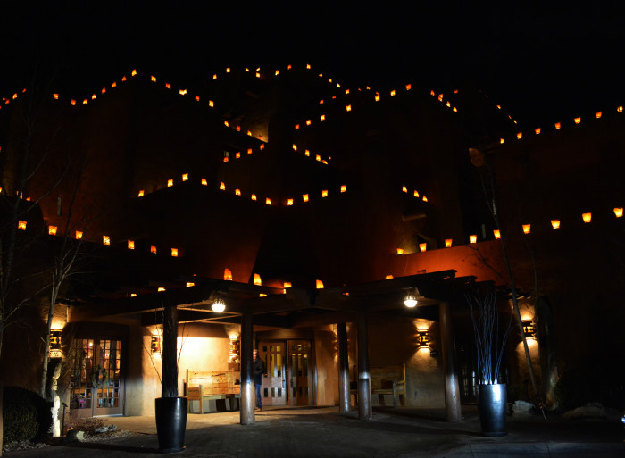 6. During the holiday season, the glow of farolitos—like these in Santa Fe—make the evenings magical.
