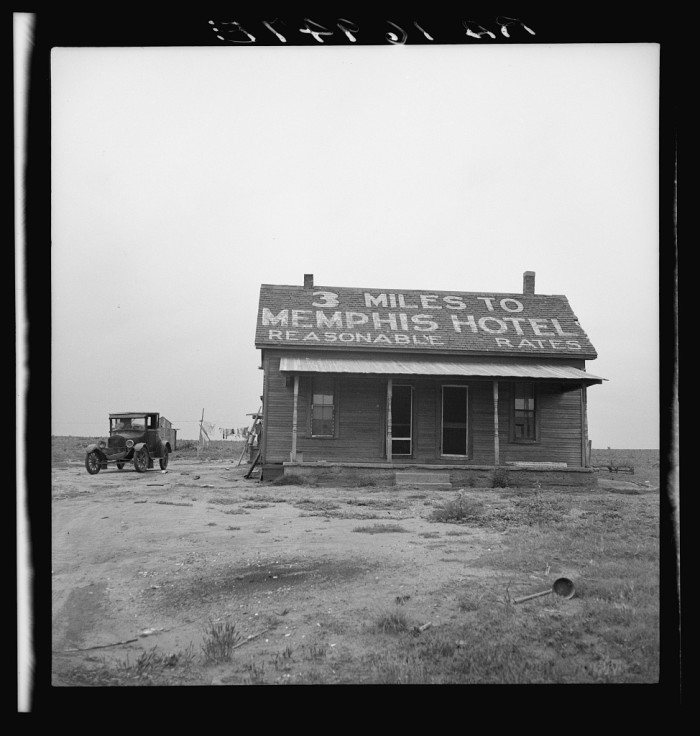 8. A tractor driver was given a dollar a day, this house, and a cow to milk in exchange for 10-11 hour workdays. (Memphis 1937)