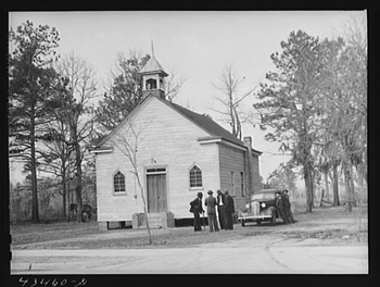 7. A Moncks Corner church. 1941.