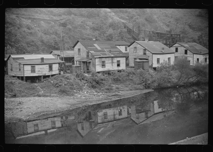 15. These were houses in the abandoned community of Mohegan, West Virginia in McDowell County, 1938.