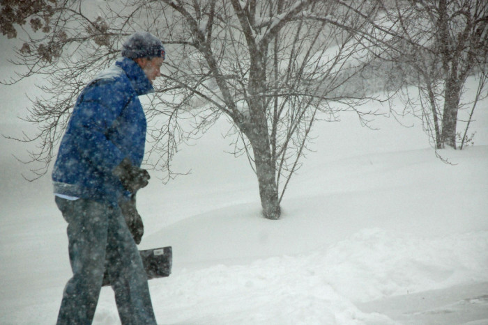 Step 10: Enlist your neighbors to help you shovel your car out.