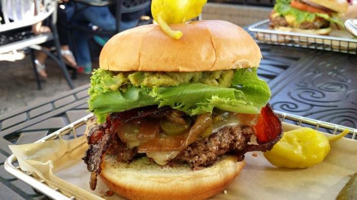 North Carolina: The Diablo Burger at Hops Burger Bar (Greensboro).