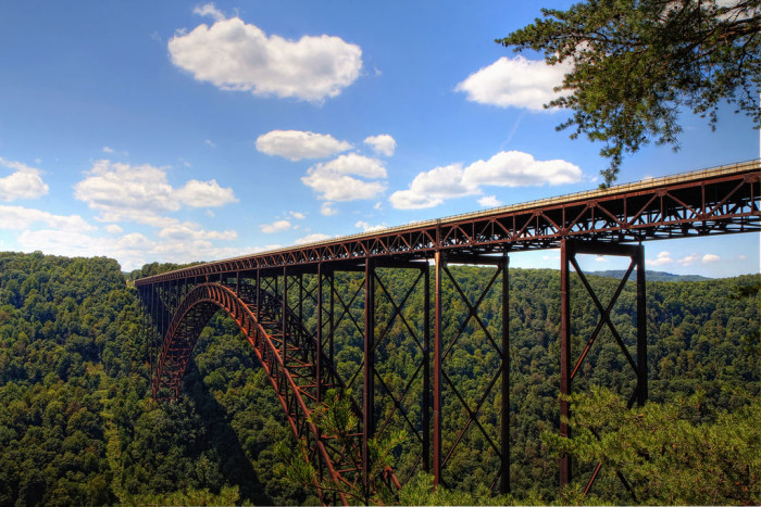 9. West Virginia's New River Gorge Bridge was for many years the world's longest single-span arch bridge; now it's the third longest. It is one of the world's highest vehicular bridges.