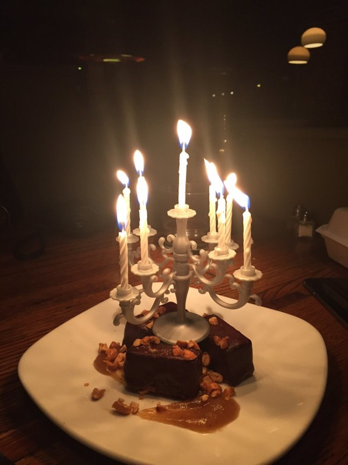 Yes; those are indeed birthday candles!