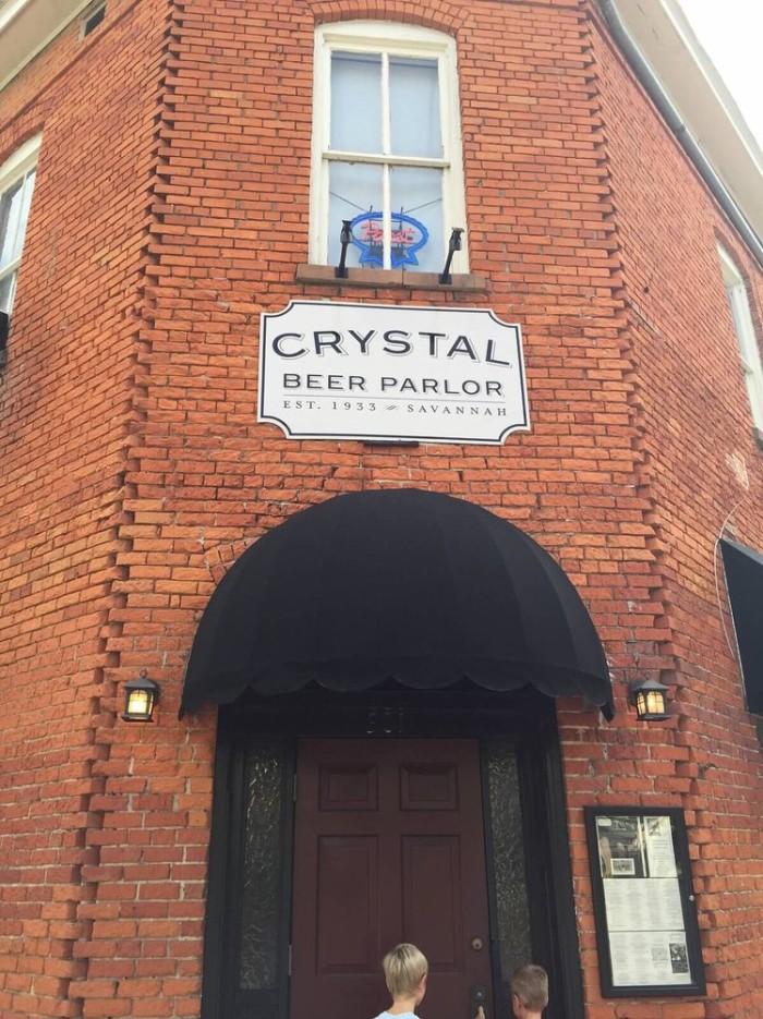 7. Crystal Beer Parlor - 301 W Jones St Savannah, GA 31401