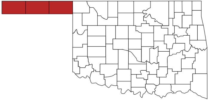 """13. The Oklahoma Panhandle really is """"No Man's Land."""""""