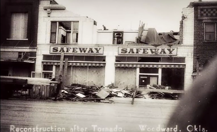 5. The start of reconstruction at Safeway.