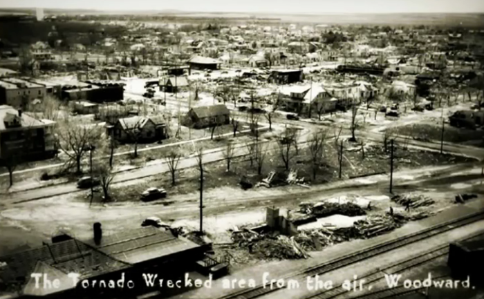 7. Aerial view of the wreckrage.