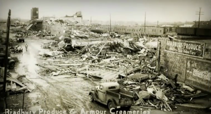 1.The devastation was horrific at Bradbury Produce and Armour Creameries.
