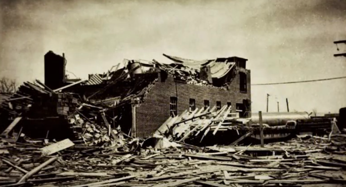 4. The Coca-Cola Bottling Plant ripped to shreds.