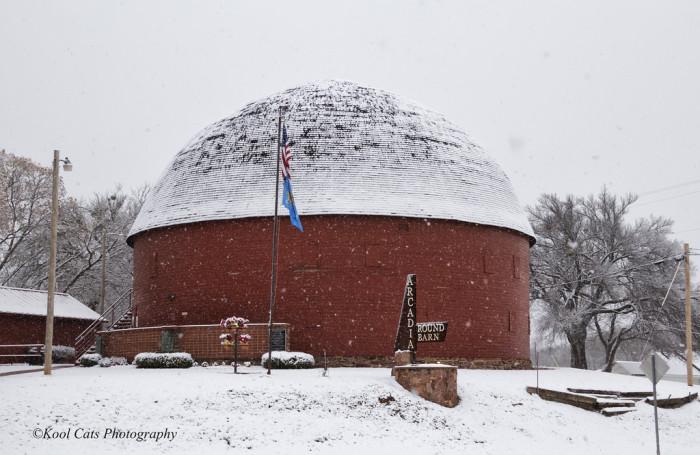 9. The Arcadia Round Barn, Acadia