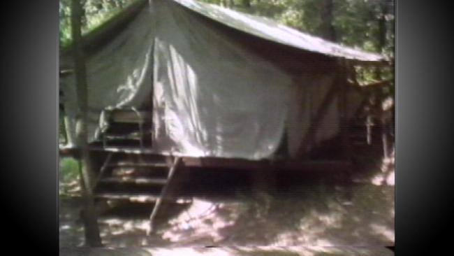 ... was Number 8 a 12x14 foot canvas tent that sat on a wooden platform 100 yards away from the nearest counseloru0027s tent and 75 feet away from the closest ... & The Oklahoma Girl Scout Murders of 1977