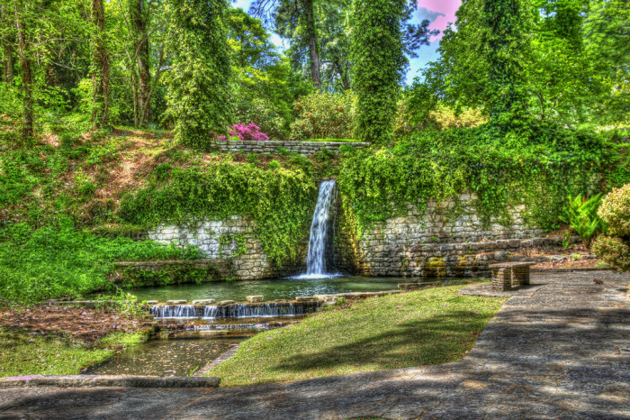 Louisiana: Waterfalls of Hodges Gardens State Park
