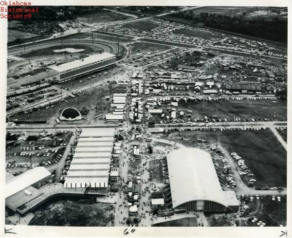 12. Aerial view of the Oklahoma State Fair, 1955.