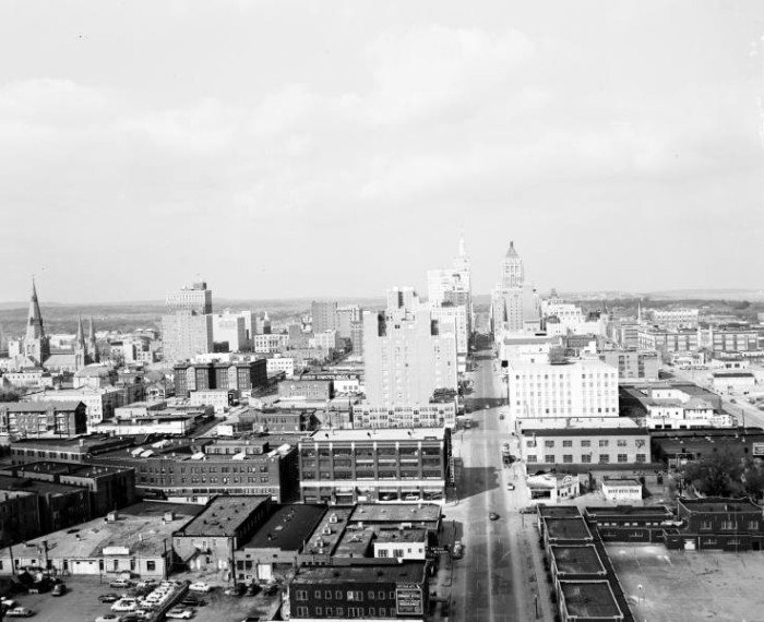 13. Downtown Tulsa, 1955 (looking south).