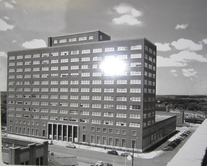 3. The Adams Building in Bartlesville was completed in the late 1950s.