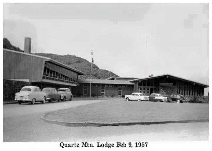 20. The old lodge at Quartz Mtn. Resort, 1957.