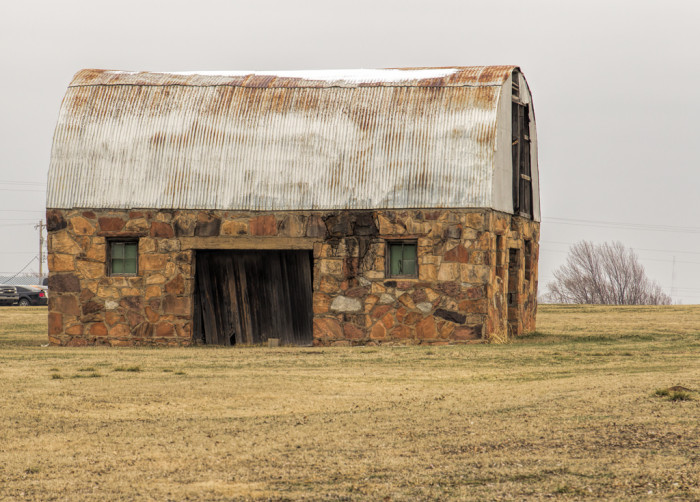 4. This barn is decaying away on a rural road in Oklahoma.