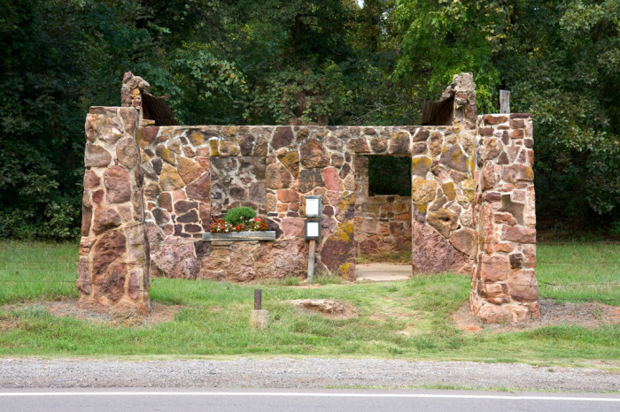 3. This old gas station was built in the early 1920s in Wellston, OK, on Route 66. Even though it is in ruins, someone maintains a flower box.