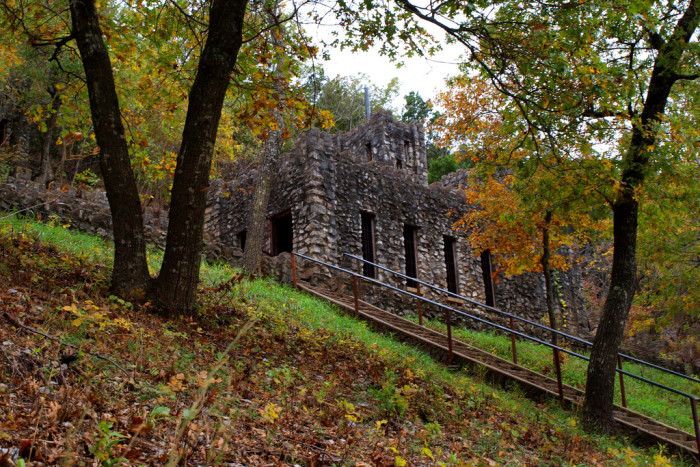 10. Collings Castle, located in Turner Falls Park in Davis, OK, isn't completely abandoned, but it is falling apart. The Castle was built from native brick and stone and was built in the early 1930s by Dr. Ellsworth Collings, Dean of Education at the University of Oklahoma.