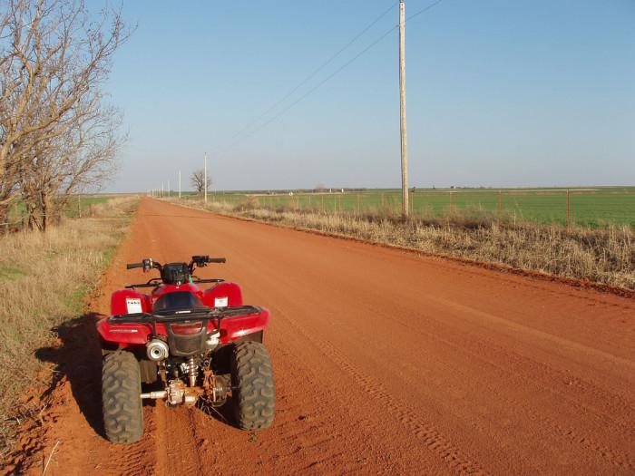 6. An ATV on a dirt road screams FUN!
