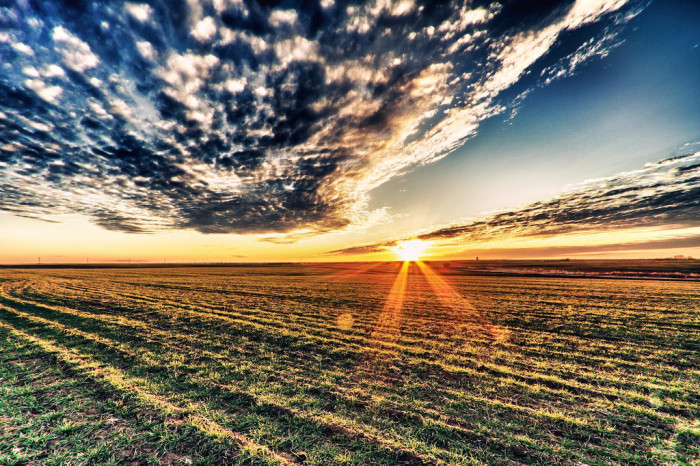 5. A bright sunset in middle America will take your breath away.