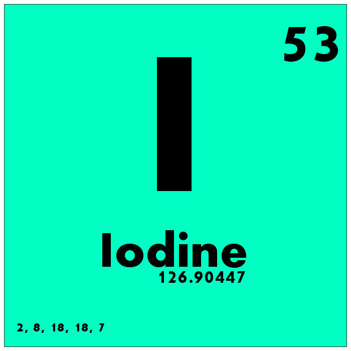 3. We are the only state that produces Iodine.