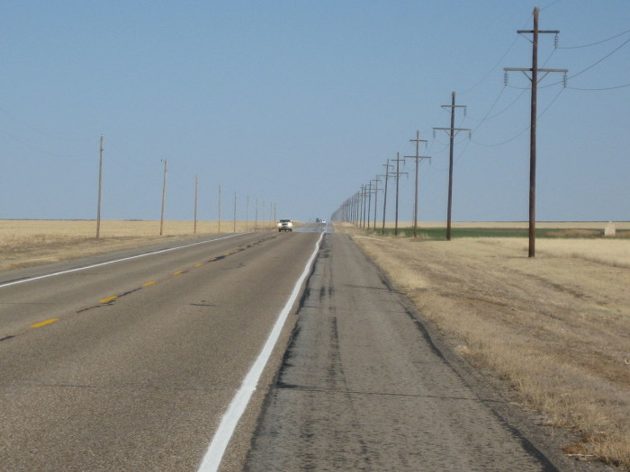 9. The Longest Straight Road and Straightest Road, Guymon (Hwy 412)