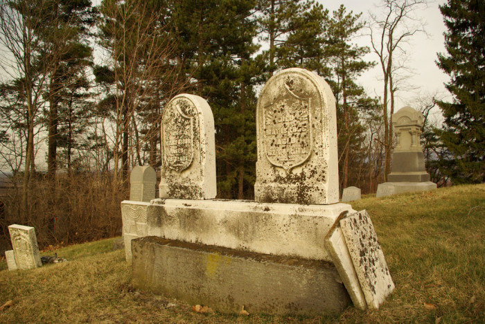 7. This is the old Forks of Cheat Baptist Church Cemetery in Morgantown.