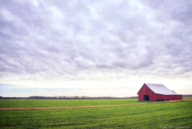 7. Old red barn.