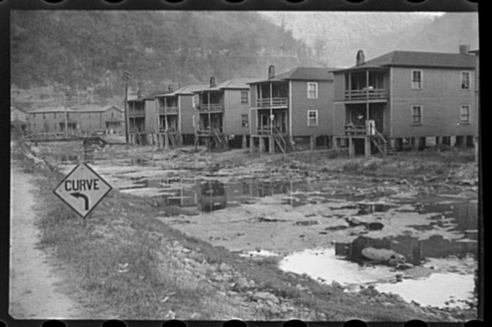 7. These were houses at Omar in Logan County, 1935