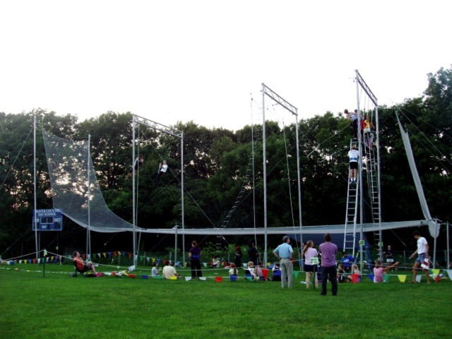 8. Fly through the air on a real trapeze.