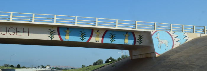 4. The bridges spanning Route 285, near Pojoaque