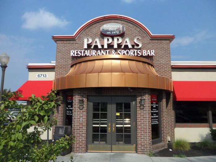 9) Pappas Restaurant, Cockeysville, Parkville, & Glen Burnie