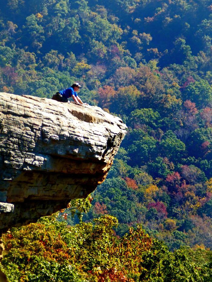 10. Perching Atop Hawksbill Crag