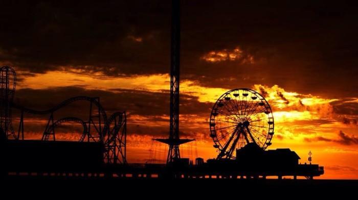 13. Sunrise at Pleasure Pier in Galveston