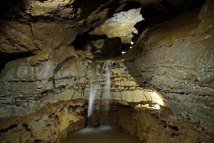 1. This waterfall in a cave in Pocahontas County