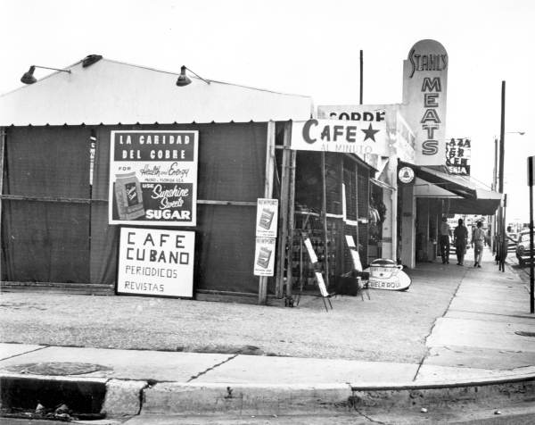 10. This café in Little Havana was captured in 1961.