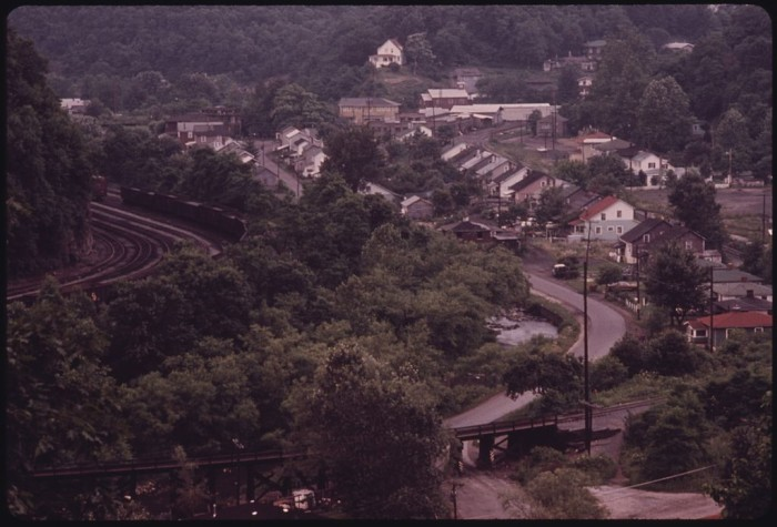 1. This was the coal town of Raleigh (in Raleigh County) in 1974.