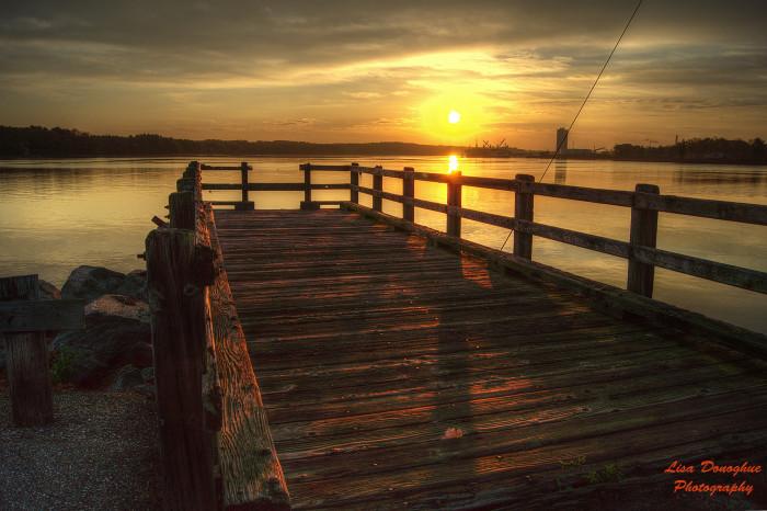 10. Sunrise along the Piscataqua River.
