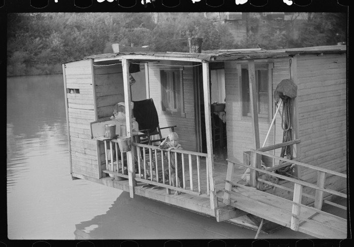 14. A family lived on this riverboat in Charleston, 1938